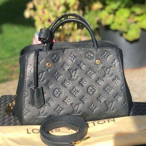 Louis Vuitton Montaigne Noir Black BB Satchel